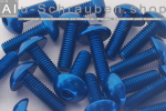 Aluminium Bolts | Blue | M3 | ~ISO 7380 | Button Head