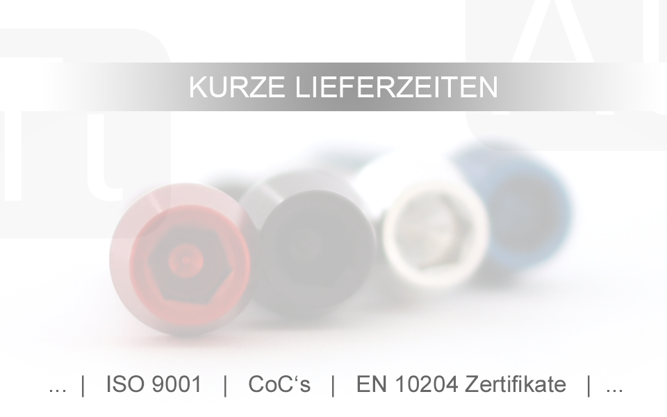 Aluminium Vis M6 X 10-50 Conique Din 912 Al7075 Noir